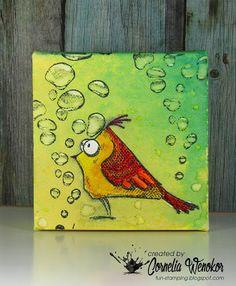 Stempel Spass: Crazy Bird Canvas #2