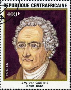 J W Von Goethe. (1749 - 1832). Timbre oblitéré.