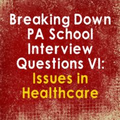 Q:What do you feel is one of the biggest issues currently facing our health care system? What are they looking for? Understanding of what is happening in our health care system. This shows the pa…