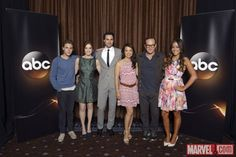 Love this cast.perfect for their roles Marvel Television, Iain De Caestecker, Classified Information, Marvels Agents Of Shield, Abc Shows, Team Cap, My Superhero, Fantasy Films, Music Tv