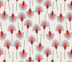 peacock_poppy fabric by holli_zollinger on Spoonflower - Blumenstoff auf Stoffe, Geschenke und Tapete