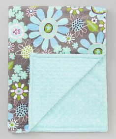 Take a look at this Blue Blooms Minky Stroller Blanket by The Minky Boutique on #zulily today!
