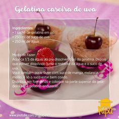 Delícia de gelatina para fazer de sobremesa ainda hoje :) Hummmm #receitaprapapá #gelatinacaseira