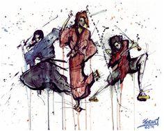 Samurai Champloo Trio by PascualProductions.deviantart.com on @DeviantArt