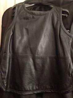 Arthur Galan leather top