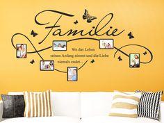 Mit dem Wandtattoo Familie Fotorahmen kannst Du Deine Wand kreativ gestalten.
