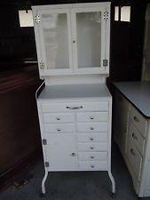 old dentist cabinets | Antique Dental Dentist Medical Doctors Cabinet Cupboard