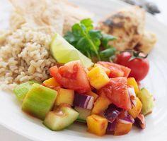 Recept: Quornfilé med mangosalsa och rostat tortillabröd