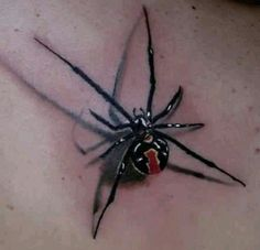 Awesome spider tattoo.