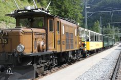 Albula Train (RhB) in Bergün, Switzerland