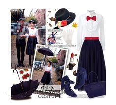 """""""DIY Halloween Costume:Mary Poppins with Keiko Lynn"""" by bamaannie ❤ liked on Polyvore featuring Tiffany & Co., Loveless, Ted Baker, Marni, Justine Hats, Chanel, Bettie Page, Kate Spade, Jardin des Orangers and BloggerStyle"""
