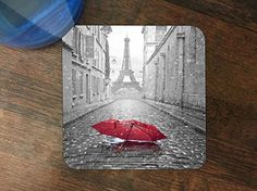 Trendy Accessories Red Umbrella Rain Paris Eiffel Tower Design Pattern Print Silicone Drink Beverage Coaster 4 Pack available at https://www.amazon.com/dp/B013QU9ET8 #coaster #siliconecoaster #beveragecoaster #customizedbeveragesiliconecoaster #drinkwareaccessories #beveragewareaccessories #kitchenanddiningwareaccessories #redumbrellarainpariseiffeltower #tadesigns