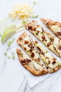 Flatbread With Irish Cheddar Apples Bacon