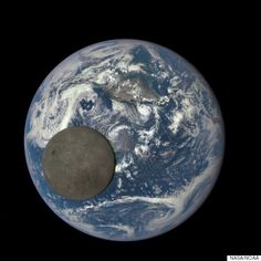 NASA'S Deep Space Climate Observatory Captures The 'Dark Side' Of The Moon As It Flies By Earth