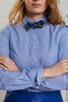 Блузки ручной работы. Ярмарка Мастеров - ручная работа. Купить Рубашка Вино и Домино. Handmade. Рубашка, джинсовый стиль, голубой