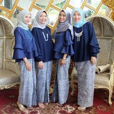 Image may contain: 4 people Kebaya Muslim, Batik Muslim, Kebaya Hijab, Muslim Dress, Kebaya Brokat, Kebaya Lace, Kebaya Dress, Batik Kebaya, Dress Pesta