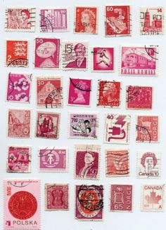 vintage stamp stamp Traditional Dutch Costumes on Postage Stamps DDR - Weltraum Briefmarken Block stamps Red And Pink, Pretty In Pink, Rosy Pink, Purple, Eye Candy, I Believe In Pink, Foto Art, Vintage Stamps, Vintage Paper
