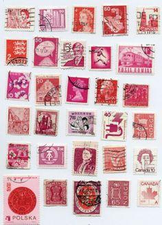 timbres en rose.