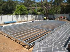 Granny Flat being constructed by Granny Flat Solutions- Steel Floor Framing designed and manufactured by Spantec