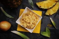 Zwiebel-Ananas-Curry-Salat Pineapple, Curry, Fruit, Blog, Pineapple Juice, Onions, Side Dishes, Food And Drinks, Cooking