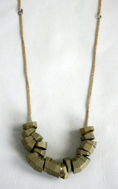 Hexagonal Cluster Necklace by Laura Lombardi Jewelry