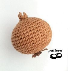 Crochet Onion Pattern / Crochet Vegetable Pattern von LittleConkers