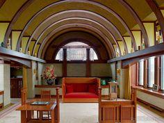 Frank Lloyd Wright's Dana Thomas House Interior, Springfield, Illinois
