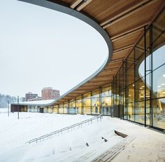 Saunalahden koulu - Saunalahti school in Espoo, Finland designed by Versas architects.