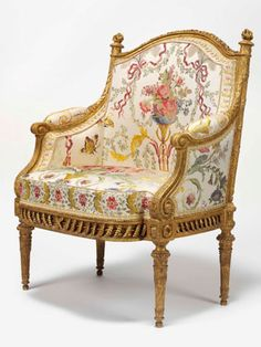 A Louis XVI gilt-wood made for Marie Antoinette