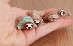 Lucky sloth totems, polymer clay by lifedancecreations