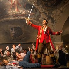 Luke Evans as Gaston in Disney's 'Beauty and the Beast' live-action remake.