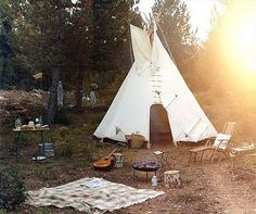 Glamping :: Camping Adventures :: Tents + Teepee :: Beach + Under the stars :: Wanderlust :: Gypsy Soul :: Discover more outdoor travel ideas + inspiration Top Camping, Camping Hacks, Teepee Camping, Teepee Tent, Backyard Camping, Camping Ideas, Outdoor Camping, Camping Outdoors, Family Camping