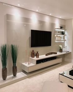 29 Inspiring TV Wall Panel Design Ideas You Must Have - The living room is one of the rooms in the house where we spend the most time. It& the place to rest on the couch, watch a movie with family and frie. Modern Tv Room, Modern Tv Wall Units, Modern Living, Minimalist Living, Modern Tv Unit Designs, Tv Console Modern, Modern Wall, Tv Wall Panel, Wall Panel Design