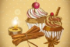 Cupcake Retro