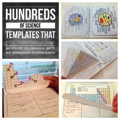 Hundreds of Middle School Science Interactive Notebook Templates for Weather, Chemistry, Ecosystems, Force and Motion, Energy, Space, Earth Science, Cells and the Structure of Life.