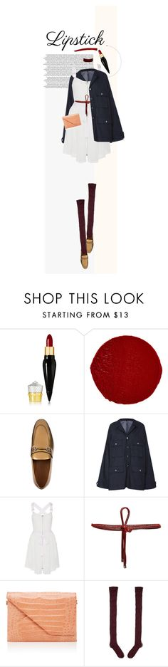 """""""Fall Beauty"""" by poison-iivy ❤ liked on Polyvore featuring Christian Louboutin, Bally, Adam Selman, Beaufille, Nancy Gonzalez, Hollister Co., ASOS and REDLIP"""