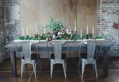 """We have seen a large number of brides go for the """"Industrial Chic"""" look! Here are some cool inspiration photos for our brides that want to add a modern twist to a vintage style wedding. Industrial Chic Decor, Rustic Chic, Industrial Interiors, Industrial Wedding Venues, Wedding Themes, Wedding Ideas, Wedding Details, Wedding Styles, Wedding Decor"""
