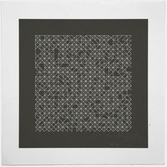 #58 Crossword – A new minimal geometric composition each day