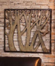 Metal Tree & Bird Wall Art