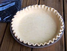 Easy 5-minute Homemade Pie Crust - A flaky, all butter pie pastry made in the food processor | ComfortablyDomestic.com