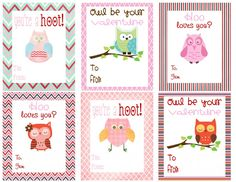 Free Printable Owl Themed Valentines | Deal Wise Mommy | Coupons | Giveaways | Deals | Freebies