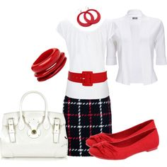 """""""White, Red and Black"""" by ginnyflynnigan on Polyvore.  LOVE!!!!"""