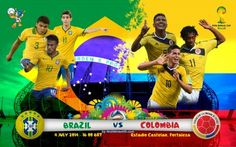 Brazil vs Colombia Live Stream Info Quarterfinals World Cup 2014: http://www.watchcriclive.net/?p=106