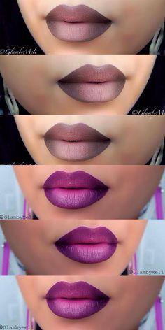Best makeup lips ombre tutorials make up ideas Makeup Goals, Love Makeup, Makeup Tips, Beauty Makeup, Hair Beauty, Makeup Ideas, Beautiful Lips, Tips Belleza, Lip Art