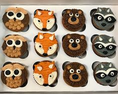 Woodland Animal Cupcakes – Classy Girl Cupcakes Best Picture For unisex Baby Shower Themes For Your Cupcakes For Boys, Girl Cupcakes, Themed Cupcakes, Baby Shower Cupcakes For Boy, 1st Birthday Cupcakes, Cupcakes Design, Vegan Cupcakes, Fotos Baby Shower, Baby Boy Shower