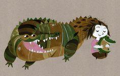 Výsledek obrázku pro crocodile art