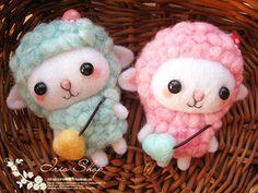 【Iris手作】羊毛毡成品DIY戳戳乐可爱笑脸小羊手机链防尘塞项118-淘宝网