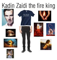 """""""Kadin Zaidi the fire king"""" by author-of-isabelle-lupin ❤ liked on Polyvore featuring Hot Topic"""