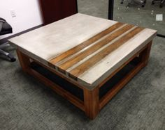 Concrete & Wood Coffee Table