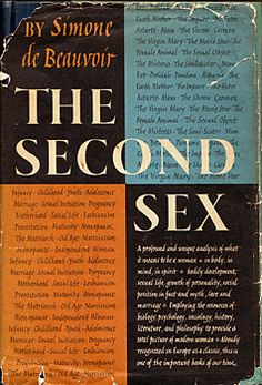 The Second Sex, Simone de Beauvoir - at times a frustrating and assumptive book but still quite a must read Type Design, Graphic Design, John Irving, Sexy Librarian, Feminine Mystique, Wise Quotes, Book Pages, Bibliophile, Simone De Beauvoir